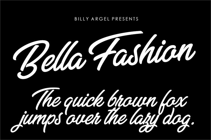 bella fashion personal use summer and beach font