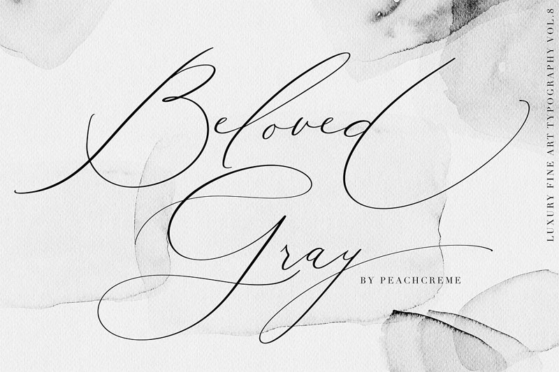 beloved gray wedding font