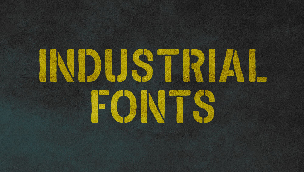 Best Free and Premium Industrial Fonts