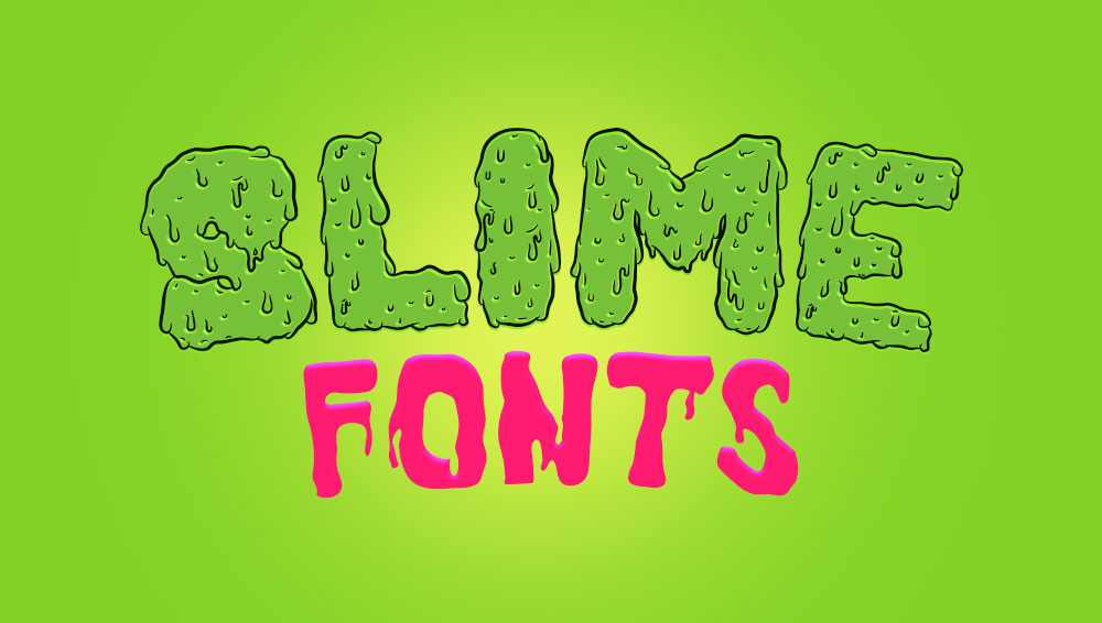 best free and premium slime fonts