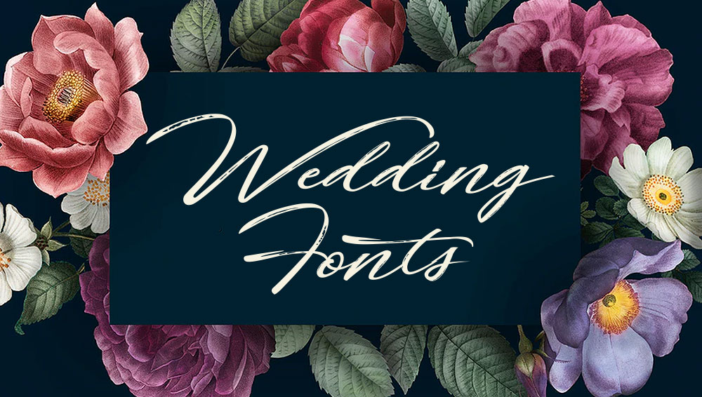 Best Free and Premium Wedding Fonts