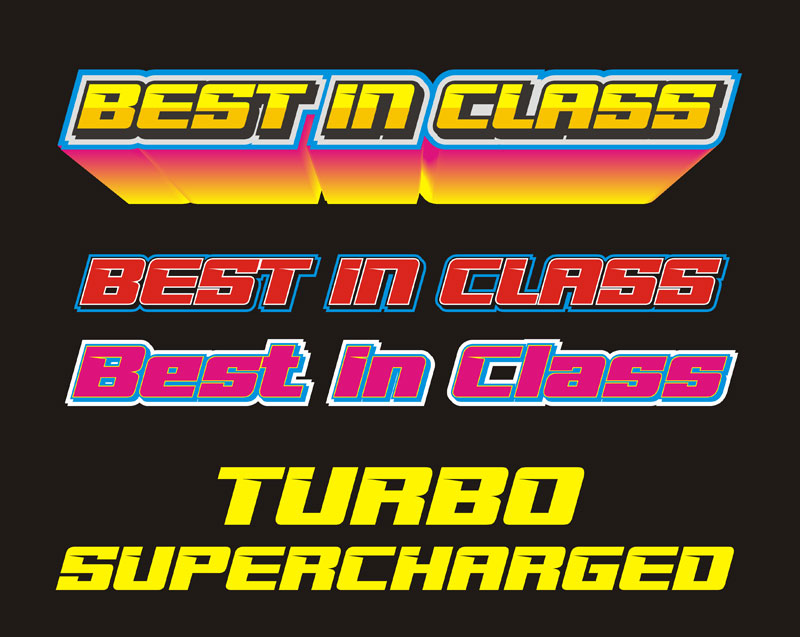 best in class racing font