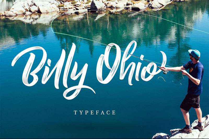 billy ohio typeface summer and beach font