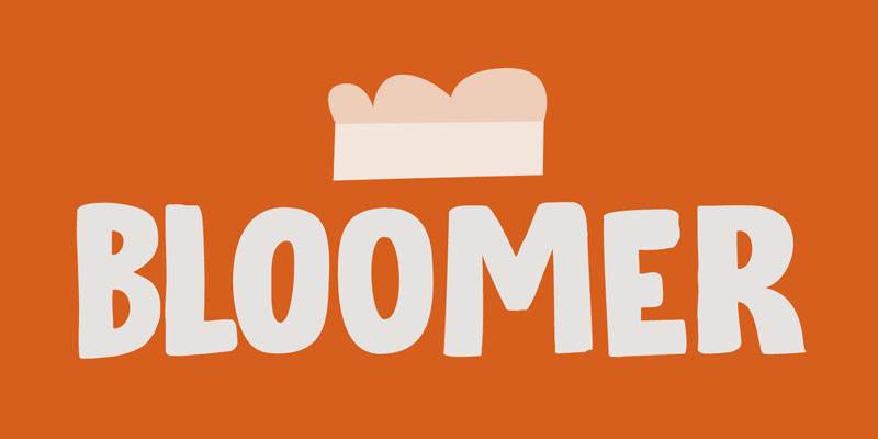 bloomer cartoon font
