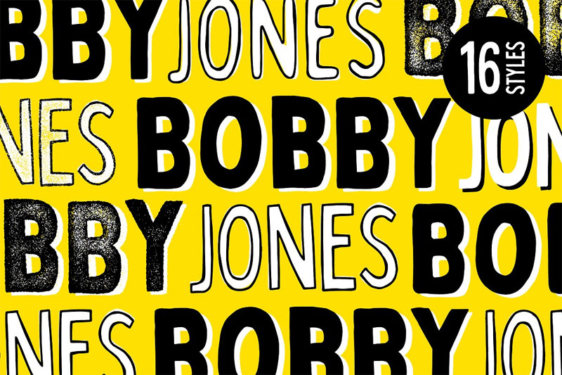 bobby jones cartoon font