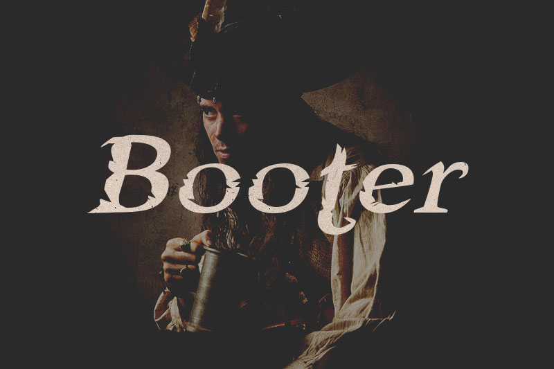 booter pirate font