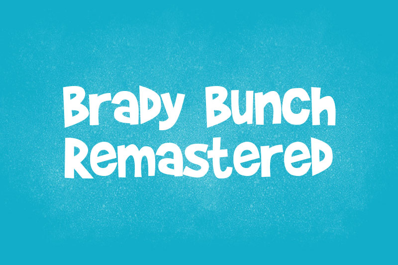 brady bunch remastered cartoon font
