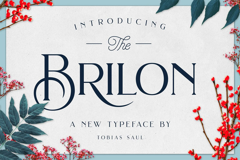 brilon wedding font