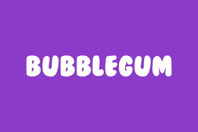 bubblegum cartoon font