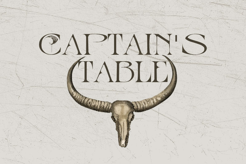 captain's table pirate font