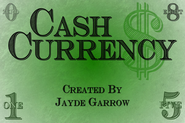 cash currency money font