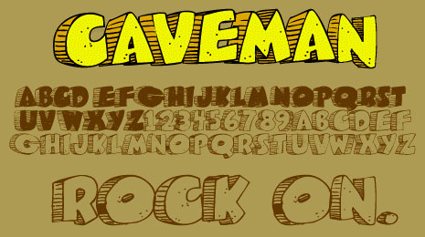 caveman cartoon font