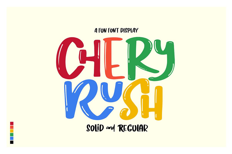 chery rush cartoon font