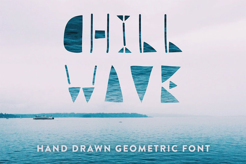 chill wave tribal font