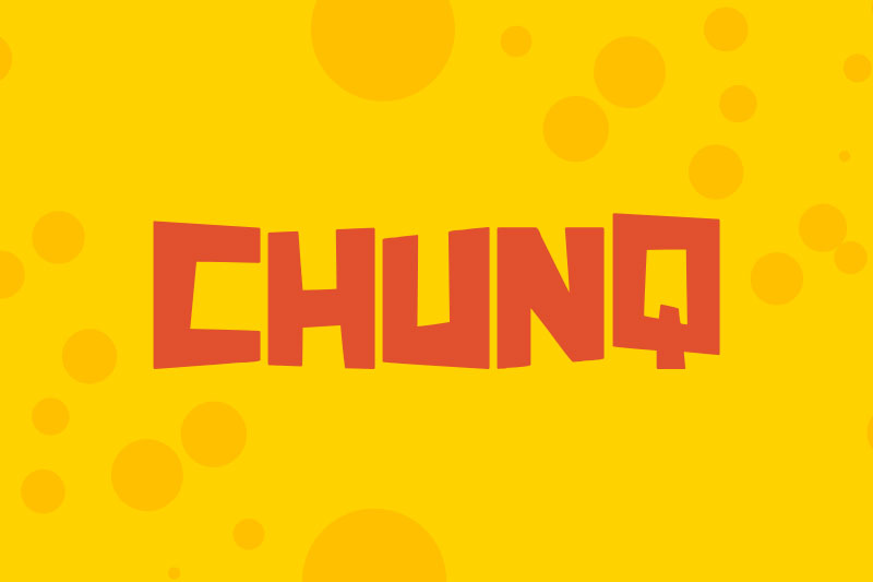 chunq cartoon font
