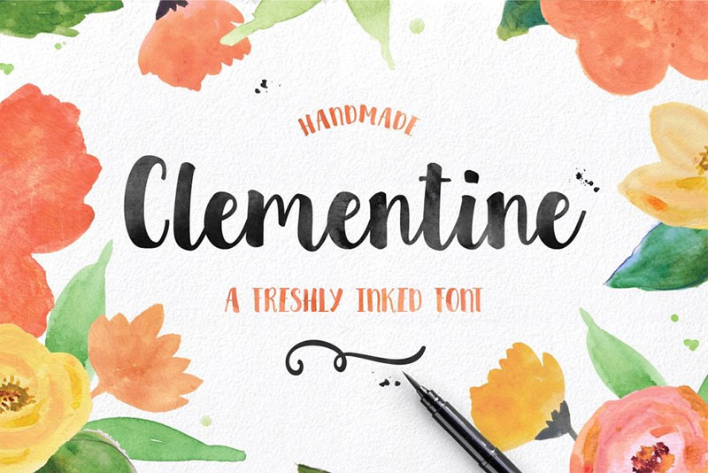 clementine script summer and beach font