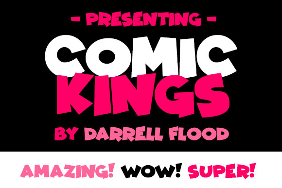 comic kings cartoon font