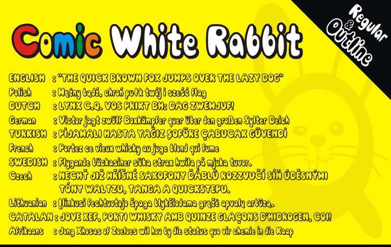 comic white rabbit cartoon font