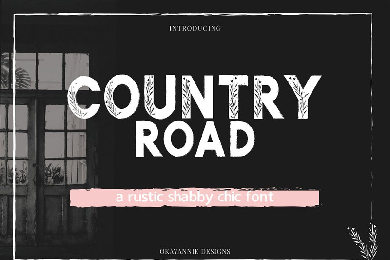 country road farmhouse font