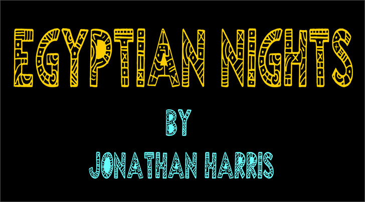 egyptian nights tribal font