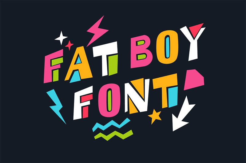 fat boy cartoon font