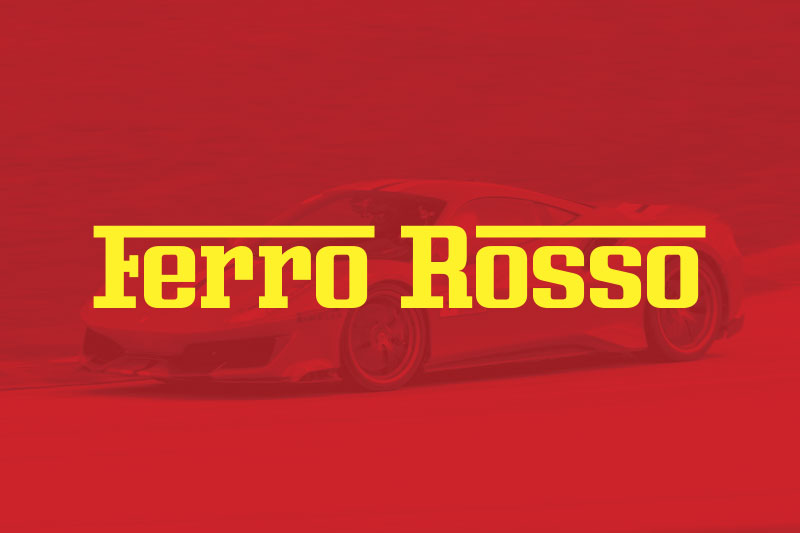 ferro rosso racing font
