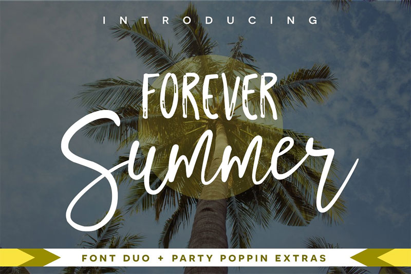 forever summer summer and beach font