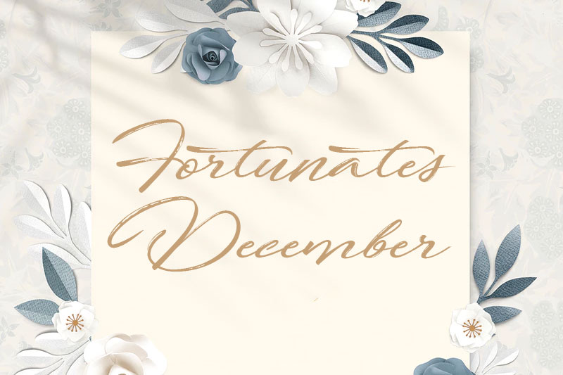 fortunates december wedding font