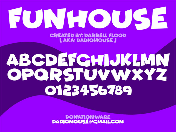 funhouse cartoon font