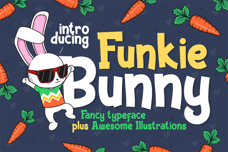 funkie bunny cartoon font