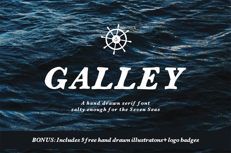 galley nautical font