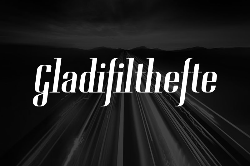 gladifilthefte racing font