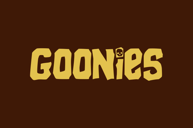 goonies cartoon font