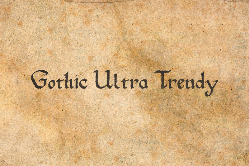 gothic ultra trendy pirate font
