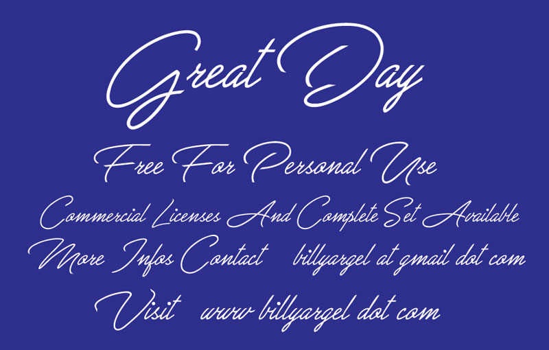 great day wedding font
