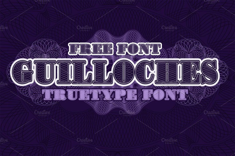 guillochestruetype money font