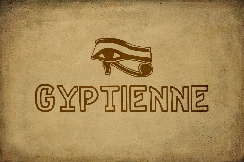gyptienne egyptian font