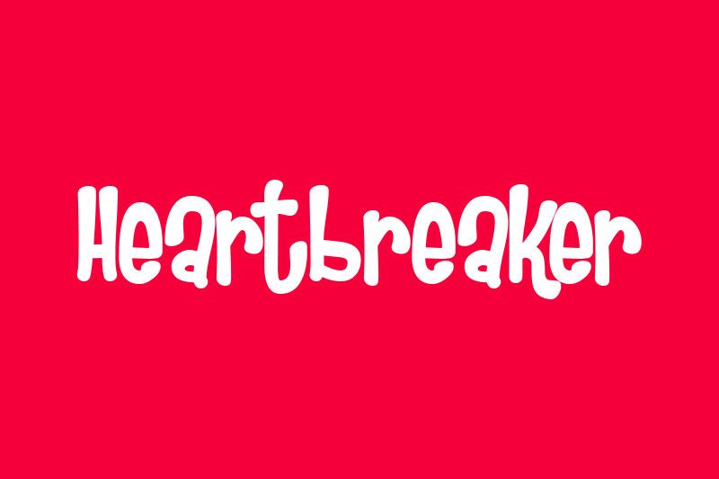 heartbreaker cartoon font