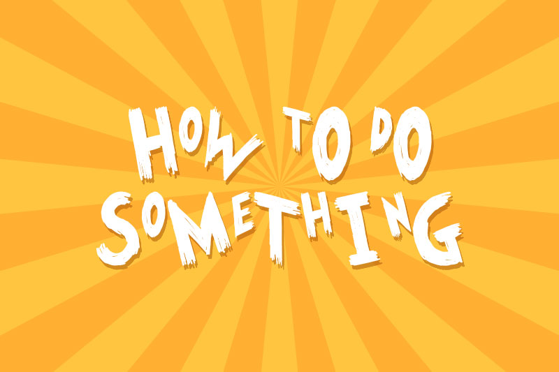 how to do some thing cartoon font