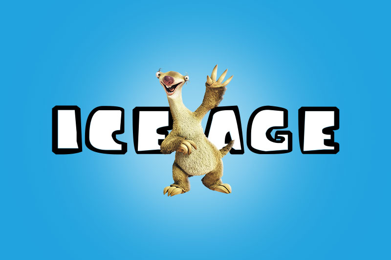 ice age cartoon font