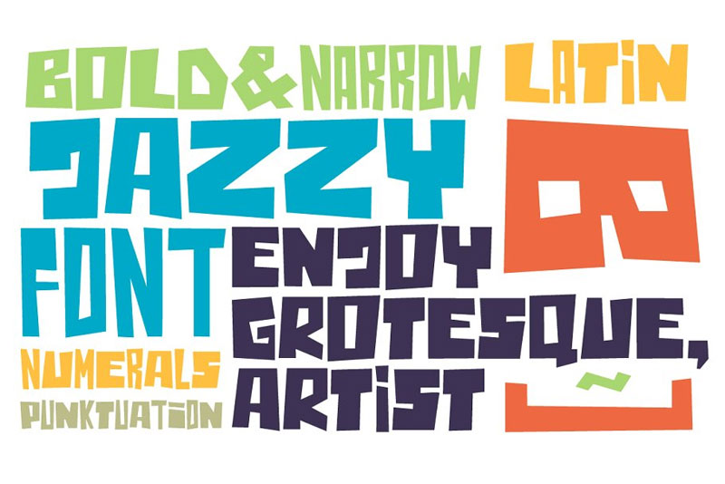 jazzyb cartoon font
