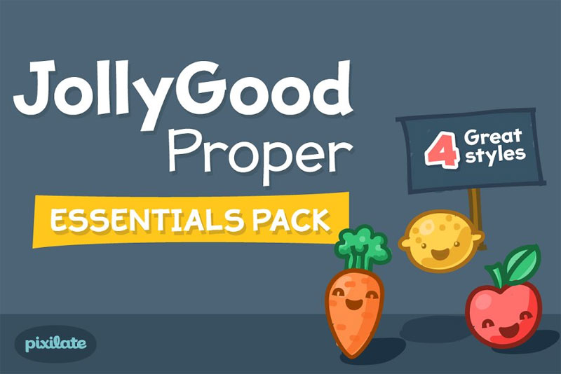 jollygood proper essentials cartoon font
