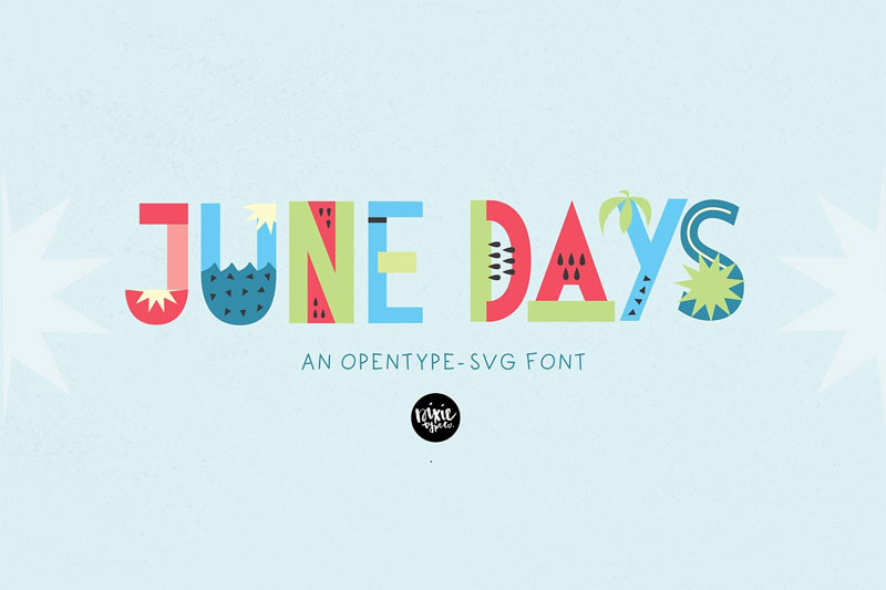 june days opentype svg color summer and beach font