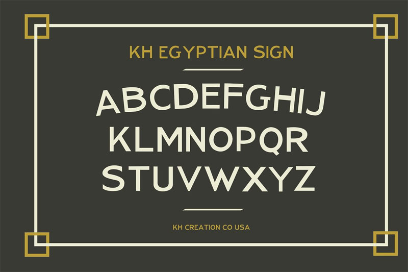 kh egyptian upper egyptian font