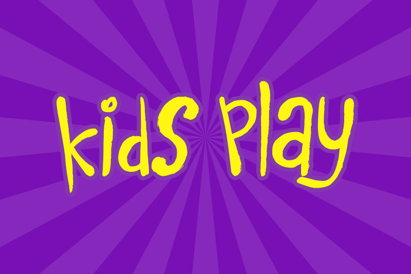 kids play cartoon font