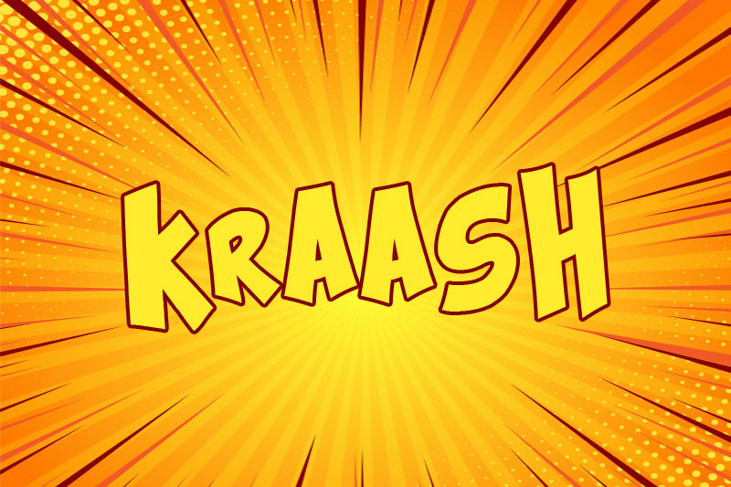 kraash cartoon font