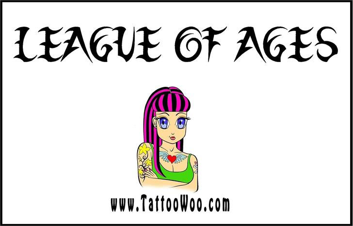 league of ages tribal font