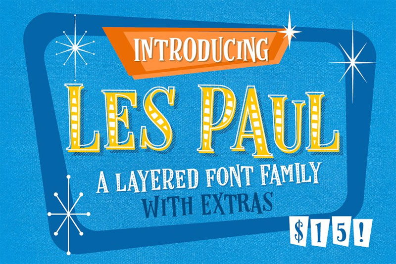 les paul cartoon font
