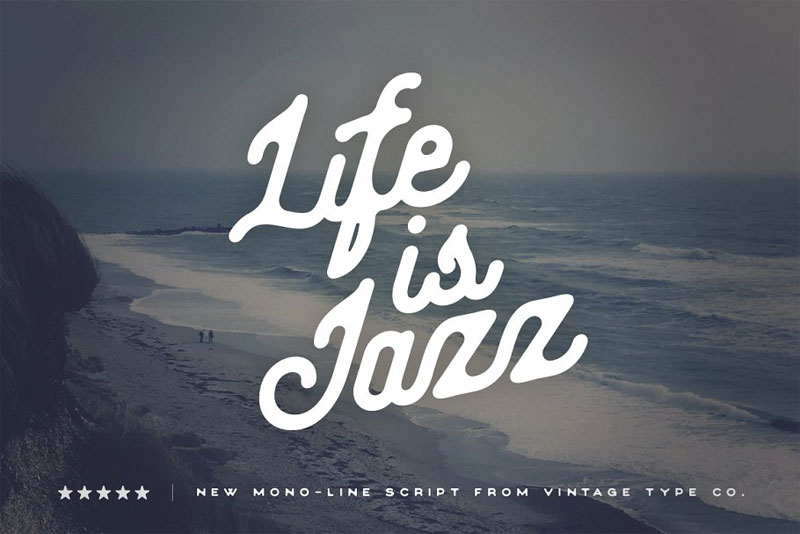 life is jazz script nautical font