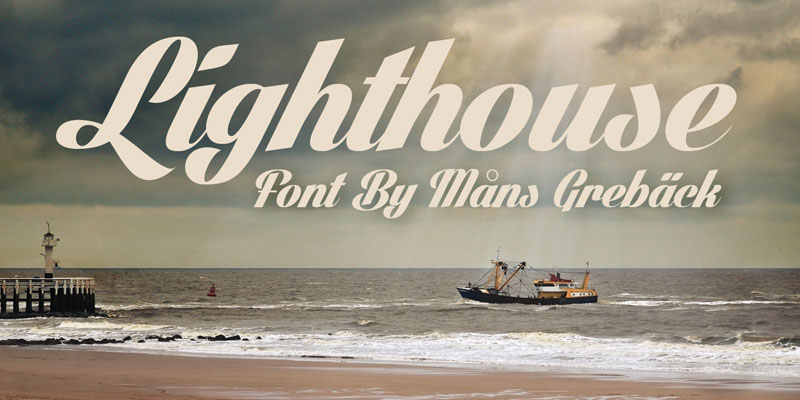 lighthouse wedding font